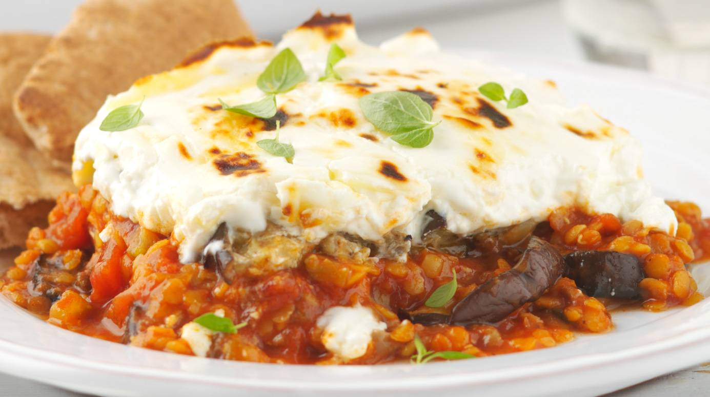 Vegetable Moussaka Recipe 595 Calories Veggie Recipes