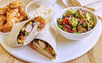Chicken Fajitas with Mexican Bean Salad