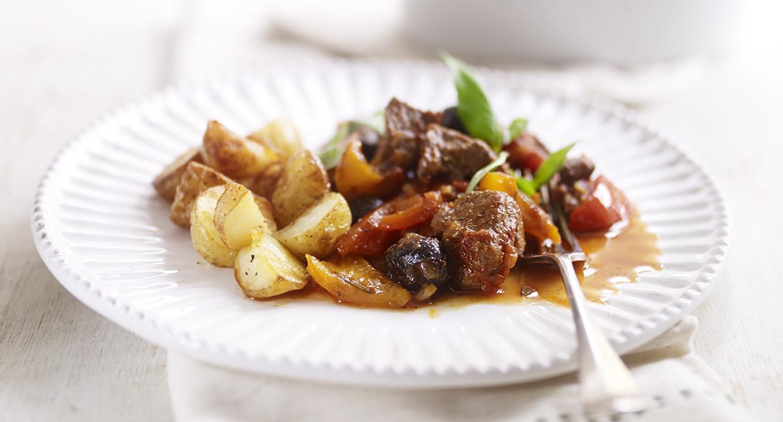 Happy N Hearty Italian Beef Stew Amp Golden Baby Roasties