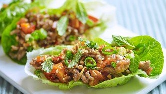 Spiced Minced Pork lettuce Cups
