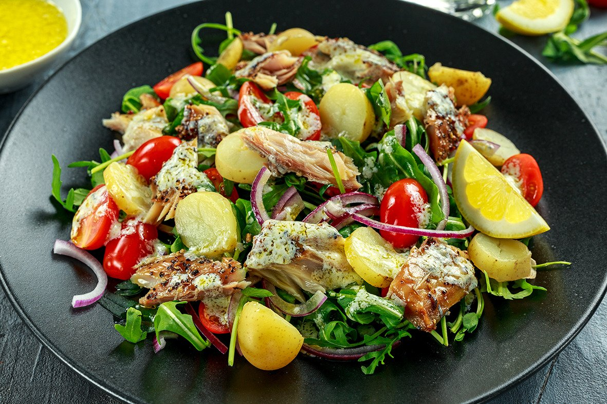 Mackerel & Egg Potato Salad