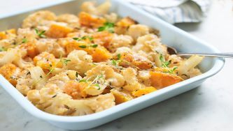 Butternut Squash and Cauliflower Gratin