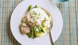 Smoked Haddock, Asparagus, Mashed Potato and Poached Eggs