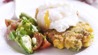 Sweet and Sassy Corn Fritta with Sunny Poached Egg